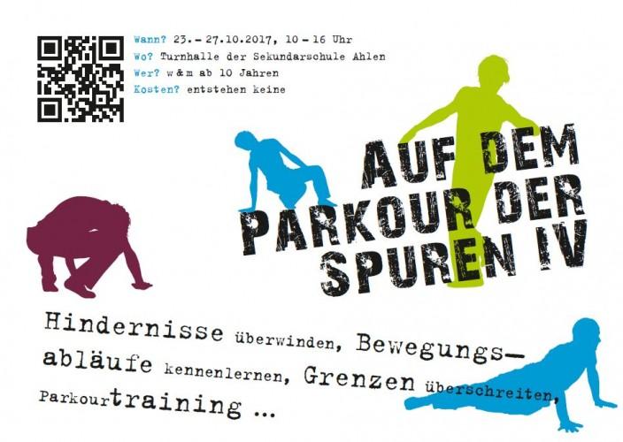 """Projekt """"auf dem Parkour der Spuren IV"""" - Herbstferienprogramm"""